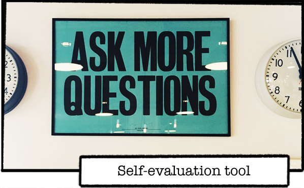 Poster, ask questions, frame